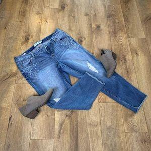 Torrid Boyfriend Raw Hem Jeans